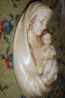 Antik nagyméretű Hummel  kerámia Madonna a kisdeddel  25,5 X 14,5 cm