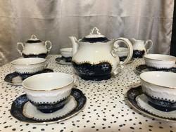 Zsolnay pompadour 15 részes teás készlet