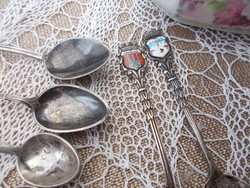 Régi szép német  ezüst teás  kanalak, város cimerrel