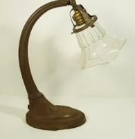 Szecessziós fém asztali lámpa