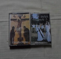 Vallási zene kazettán: Passió; Izraeli énekek és táncok (egyházi ének, Diakónia)