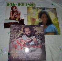 Retro hanglemezek: Für Elise, Sass Sylvia, Benkő Dániel (komolyzene, operett, gitár; lemez)