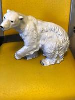 Royal Dux porcelán jegesmedve