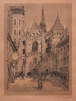 Krón Jenő (1882-1974): Kassa Szent Erzsébet-székesegyház.