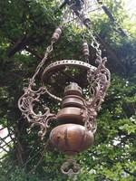 Függő lámpa vagy lüszter lámpa,csillár,rézből!