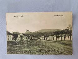 Pécsvárad Országút-utca régi képeslap levelezőlap