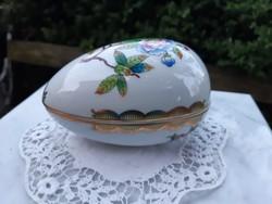 Nagyobb méretű tojás formájú Herendi Viktória mintás bonbonier