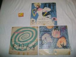 Régi hanglemez vagy gramofon lemez - három darab - Strauss, operett..
