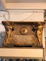 Osztrák figurális szecessziós kerámia óra
