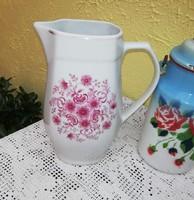 Alföldi porcelán kancsó, nosztalgia darab, paraszti dekoráció