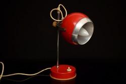 Régi Szarvasi Asztali Lámpa / Retró / Fém Irodai Lámpa / Mid Century / Eyeball / Space age / Gömb