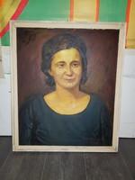 """Szabó Lajos (1927-1995), """"Eszter"""", Munkácsy-díjas festőművész, farost, olaj, 50x60"""