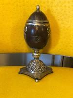 Bécsi antikezüst judaika kókuszserleg