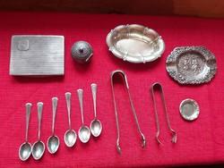 Magyar ezüst tárgyak 381 g összesen. 1920 elöttiek.