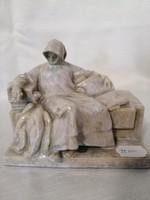 Antik Zsolnay Anonymus szobor