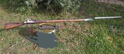 1815M muskéta puska számazonos szuronyával