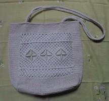 Retro, fehér női táska (nyári válltáska)