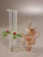 Mini üveg elefánt + váza