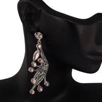 Természetes rózsaszín gyöngyház markazital 925 ezüst fülbevaló