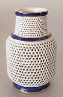 Áttört falú kerámia Fischer Emil váza