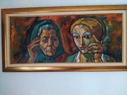 Józsa János festőművész Kettős portré