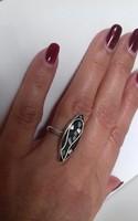 Mozaikos ezüst gyűrű