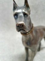 800-as ezüst kutya szobor, 1150gr