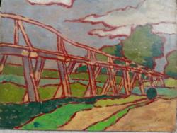 Magyar festő   Fahíd     töredékes szignó