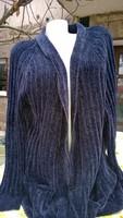 Zara márka-Padlizsánlila hosszú kardigán-kabát-maxi pulóver M-L-XL