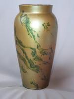 Antik Zsolnay eozin labrador mázas váza