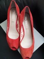 Tamaris vajpuha hasított bőr komfort cipő szandál 41  akár alkalomra is kényelmes széles magas lábra