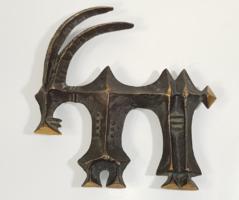 Kopcsányi Ottó - ritka bronz iparművészeti szobor/falidísz