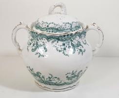 John Maddock & Sons Royal Vitreous angol porcelán cukortartó / az 1800-as évek végéről