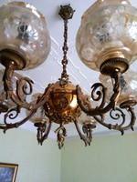 Aranyozott antik réz csillár