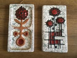 2 darab jelzett retro fali kerámia