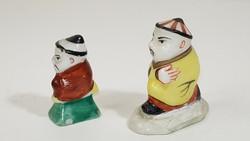 Herendi didergő mandarin porcelán figurák / csikkelnyomók