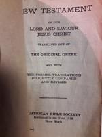 New Testament 1816 New York