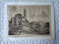 Körmöczvár kb. 100 éves metszet Körmöcbánya Kremnica