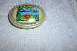 Zsolnay antik porcelán  bonbonier-porcelán doboz