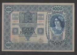 1000 korona 1902.  EF!!  Bélyegzés nélküli!!  GYÖNYÖRŰ!!  RITKA!!