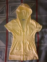 Funkydiva sárga kapucnis pulóver / kardigán - angol