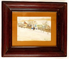 Kádár Géza (1878-1952) - Nagybánya télen