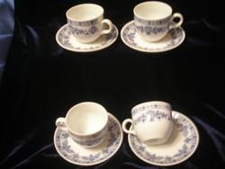 Hagyma mintás, kobalt kék kávés, teás HIBÁTLAN 4 személyes szett eladó