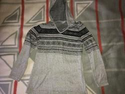 Clockhouse szürke kapucnis pulóver / kardigán