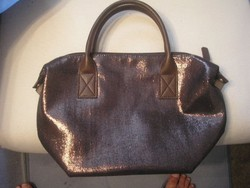 Aranybarna újszerű egyedi táska csillogó fényt adó egyterű zippzáras