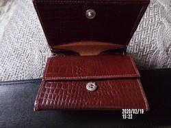 Bőr női kis pénztárca