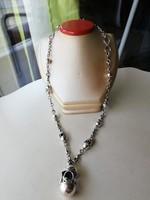 Ezüst különleges hosszú nagyon dekoratív különlegesen ezüst nyaklánc 925