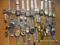 25 darab fémszíjas régi karóra