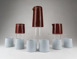 0Z775 Művészi minimalista kerámia kávéskészlet