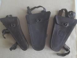 Veterán biciglis bőr szerszámos táskák, 3 db